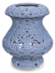 Rigid Opague 3D printed vase