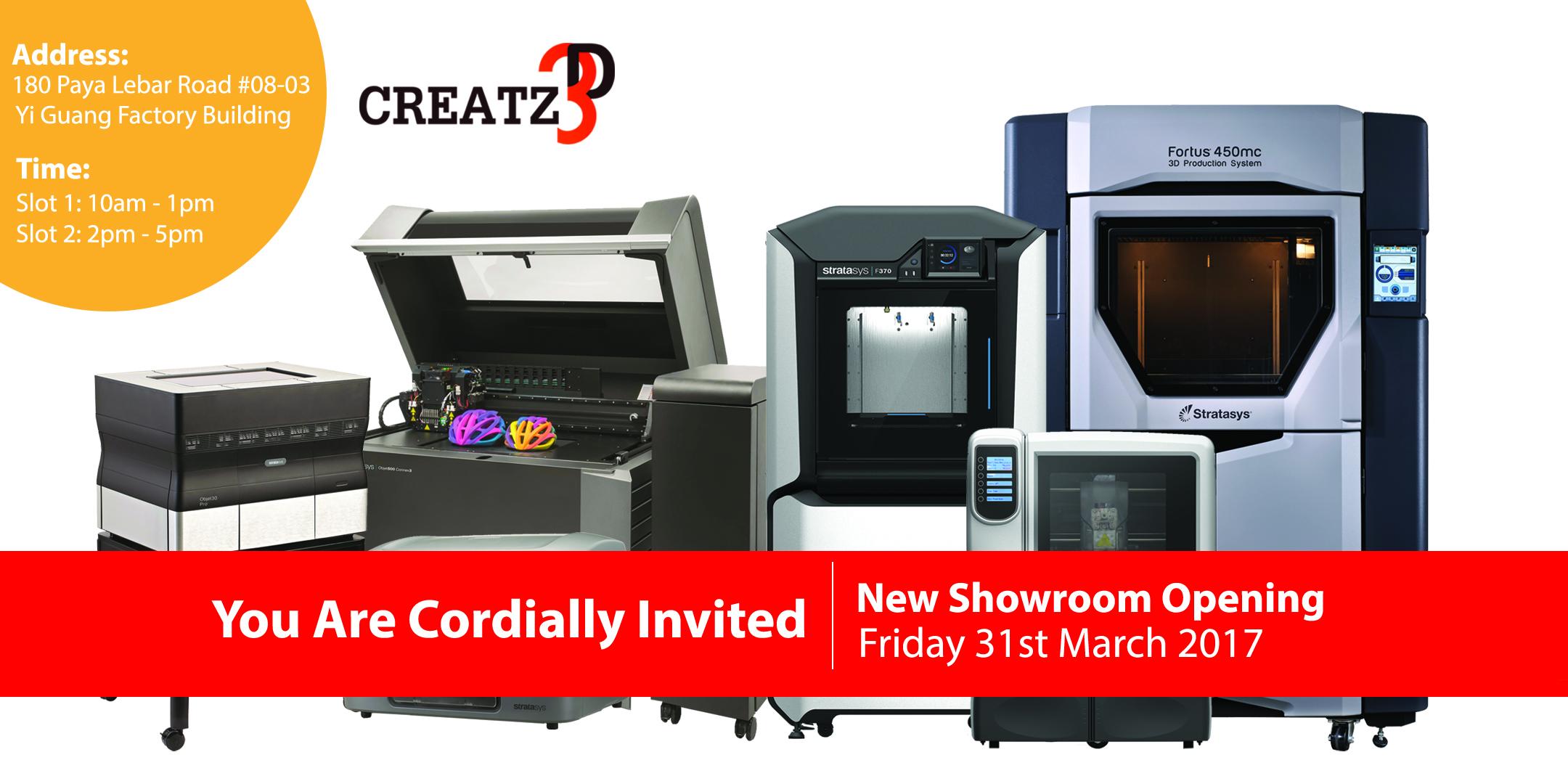 Creatz3D Showroom Opening